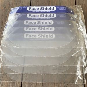 5 new face shields reusable